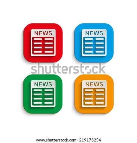 news icon - stock vector