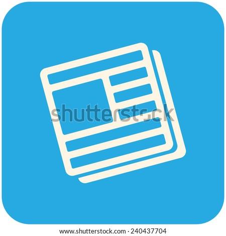 News icon, vector icon flat design - stock vector