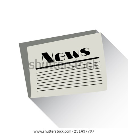 News icon. Vector newspaper icon. Flat design