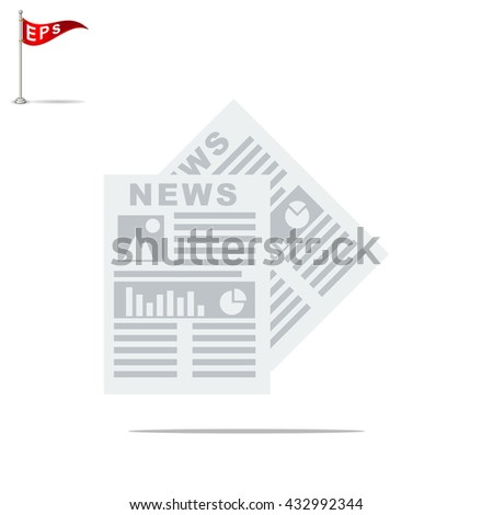 News icon, vector Newspaper icon, isolated mass media icon
