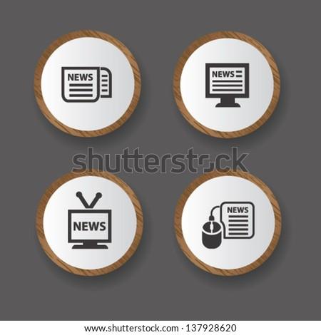 News icons,vector - stock vector