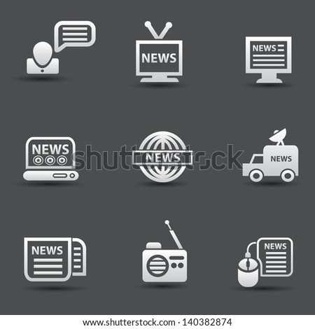 News icons,vector - stock vector