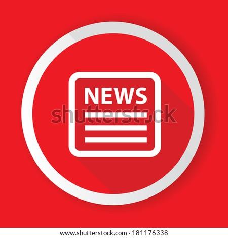 News,Red button,vector - stock vector