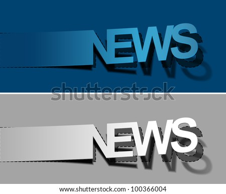 News vector sticker & label for text design. - stock vector