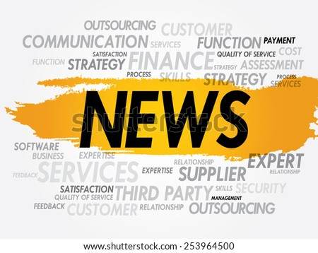 NEWS word cloud, business concept - stock vector