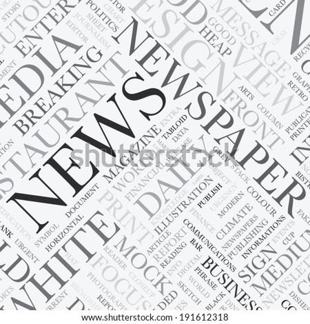 News word tag cloud vector texture background - stock vector