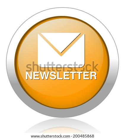newsletter icon - stock vector