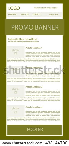 newsletter template for business or non-profit organization