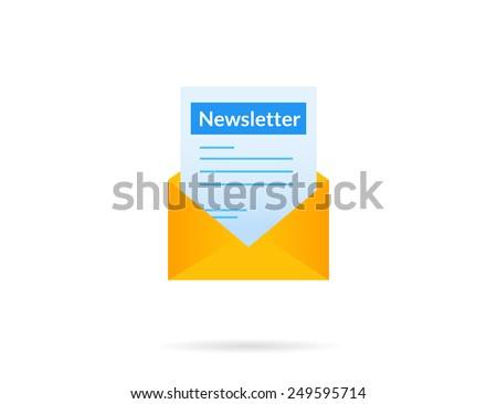 Newsletter vector illustration isolated on white background - stock vector