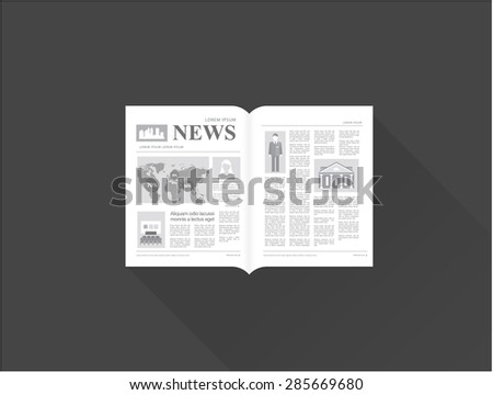 newspaper - stock vector