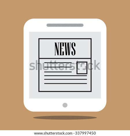 Newspaper apps on tablet/Smart Phone VECTOR