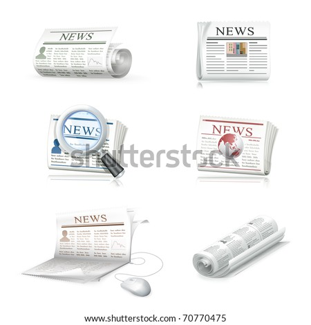 Newspaper collection, eps10 - stock vector