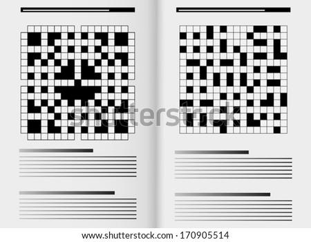 Newspaper crossword - stock vector