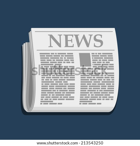 Newspaper Icon, Business Extra News. Vector Illustration