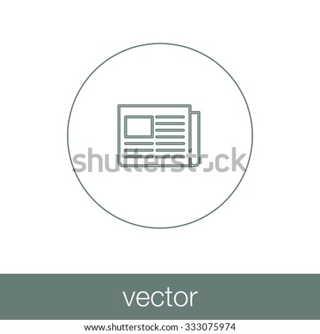 Newspaper icon. Icon of news. Concept flat style design illustration icon. - stock vector