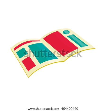 Newspaper icon in cartoon style isolated on white background. Paper symbol - stock vector