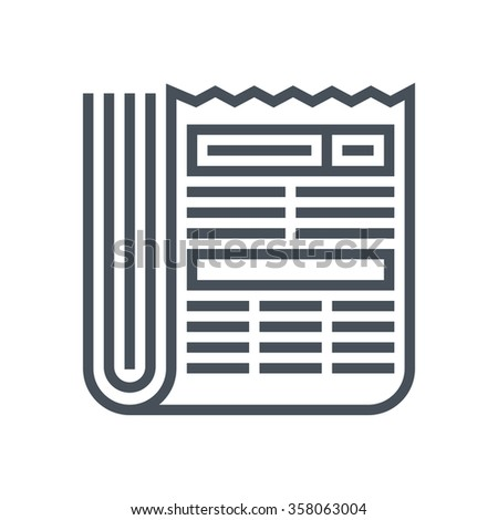 Newspaper  icon suitable for info graphics, websites and print media and  interfaces. Line vector icon. - stock vector