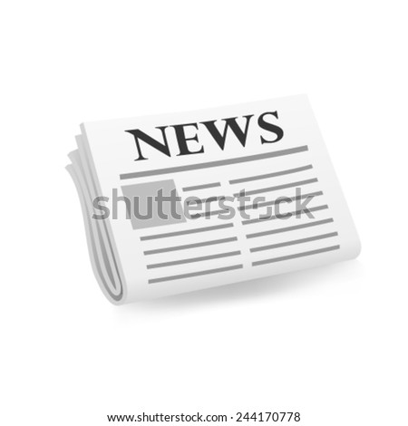 Newspaper icon. Vector - stock vector