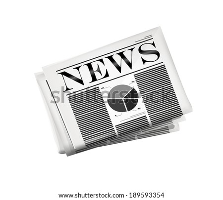 Newspaper icon. Vector eps10 - stock vector