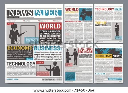Newspaper Design Template Red Headline Images Vector – Newspaper Headline Template