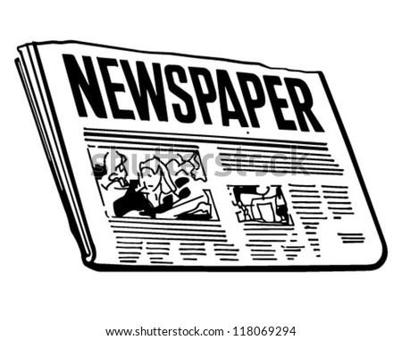 Newspaper - Retro Clipart Illustration - stock vector