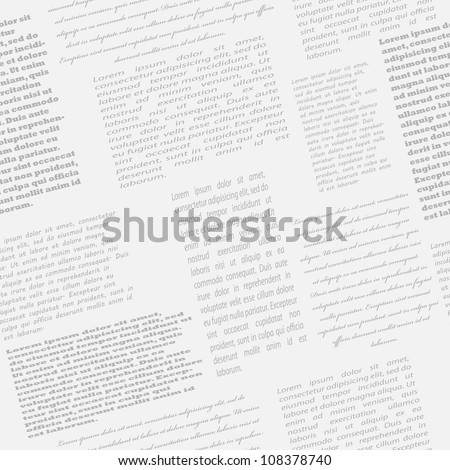 Newspaper seamless background, vector illustration, eps10