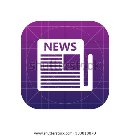 Newspaper sign icon, vector illustration. Newspaper, news symbol. Flat icon. Flat design style for web and mobile. - stock vector