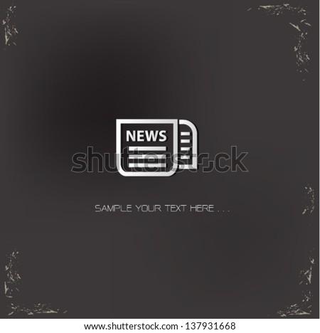 Newspaper sign,vector - stock vector