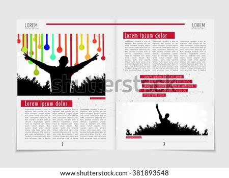 Newspaper template, vector - stock vector