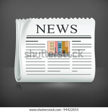Newspaper, vector - stock vector