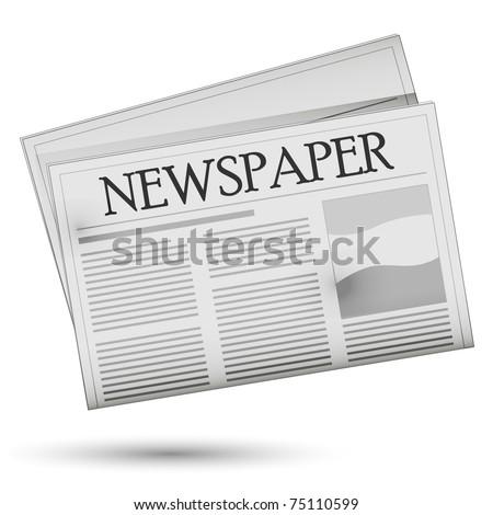 Newspaper - vector. Easy to edit. - stock vector