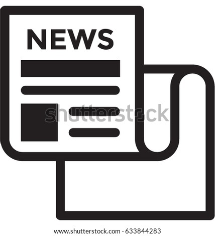 newspaper vector icon stock vector 633844283 shutterstock rh shutterstock com newspaper victoria bc newspaper vector free