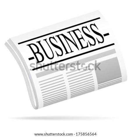 Newspaper vector icon. Business argument. - stock vector