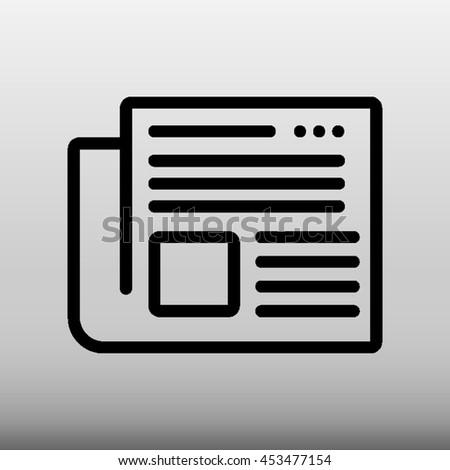 Newspaper Vector Icon Illustration - stock vector