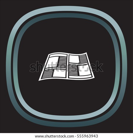 Newspaper vector icon. Press sign. Publication symbol.