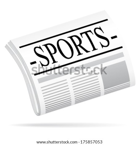Newspaper vector icon. Sports argument.