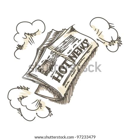 Newspaper.  Vector illustration. Eps 8. - stock vector