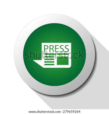 Newspaper, web icon. Vector design - stock vector