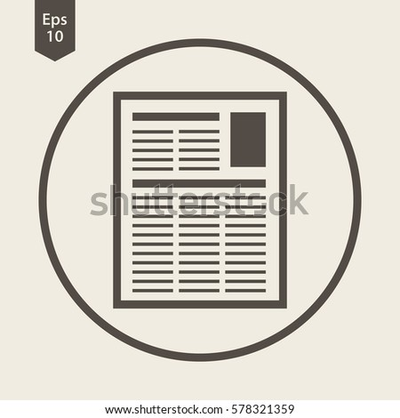 Newspapers Template Circle Simple Flat Icon Stock Vector Hd Royalty
