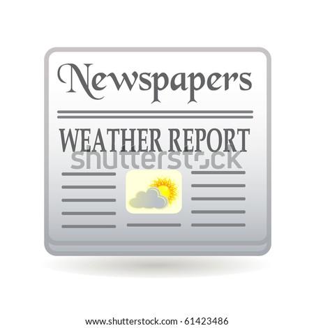 newspapers weather report - stock vector
