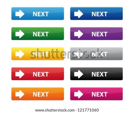 Next buttons - stock vector