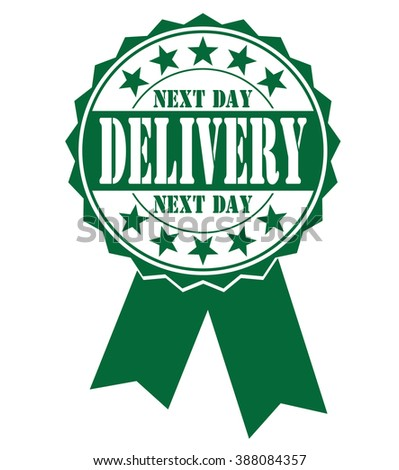 Next day delivery icon, vector illustration