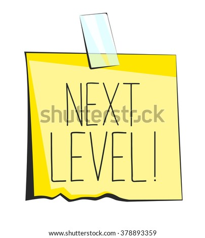 Next level paper sticky note retro reminder sticker
