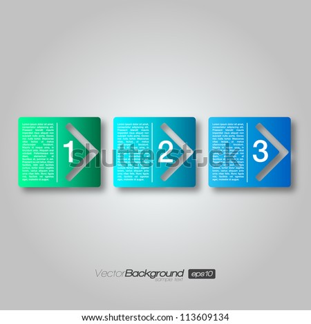 Next Step Arrow Boxes | EPS10 Vector Design - stock vector