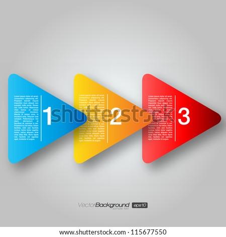 Next Step Arrow Boxes | EPS10 Vector Design - stock vector
