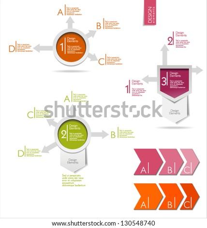 Next step arrow modern design - stock vector