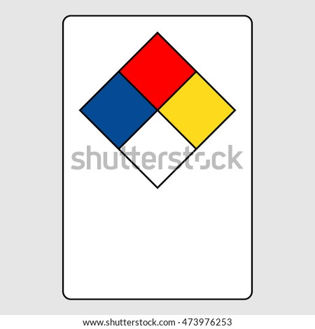 NFPA 704 diamond sign - blank write on sign, vector illustration