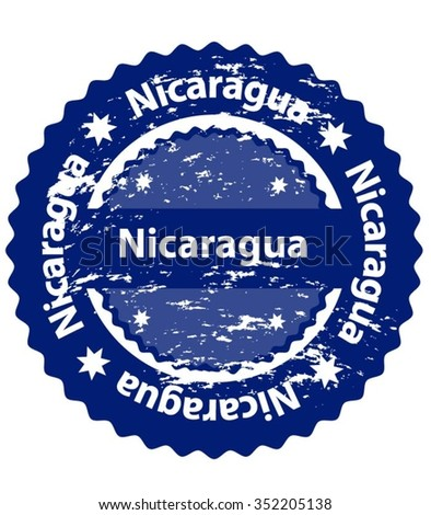 Nicaragua Country Grunge Stamp - stock vector