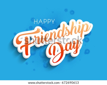 Nice And Beautiful Abstract Banner Or Poster For Happy Friendship Day With Creative