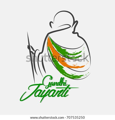 nice and beautiful abstract for Gandhi Jayanti or 2nd October with nice and creative design illustration in background.